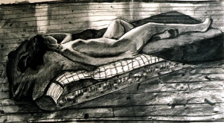 Girl on a mattress
