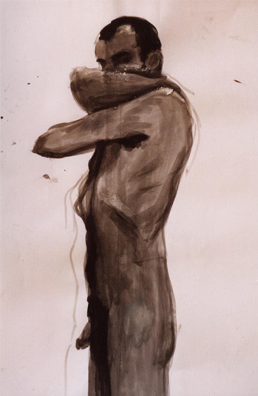 Nude Self Portrait (Ink Sketch)