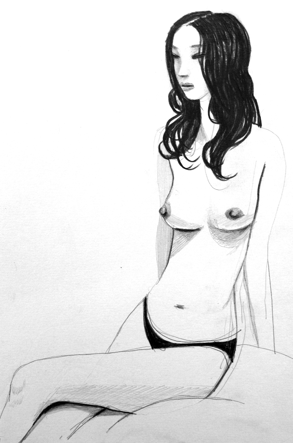 Sketch of a girl in a Love Hotel
