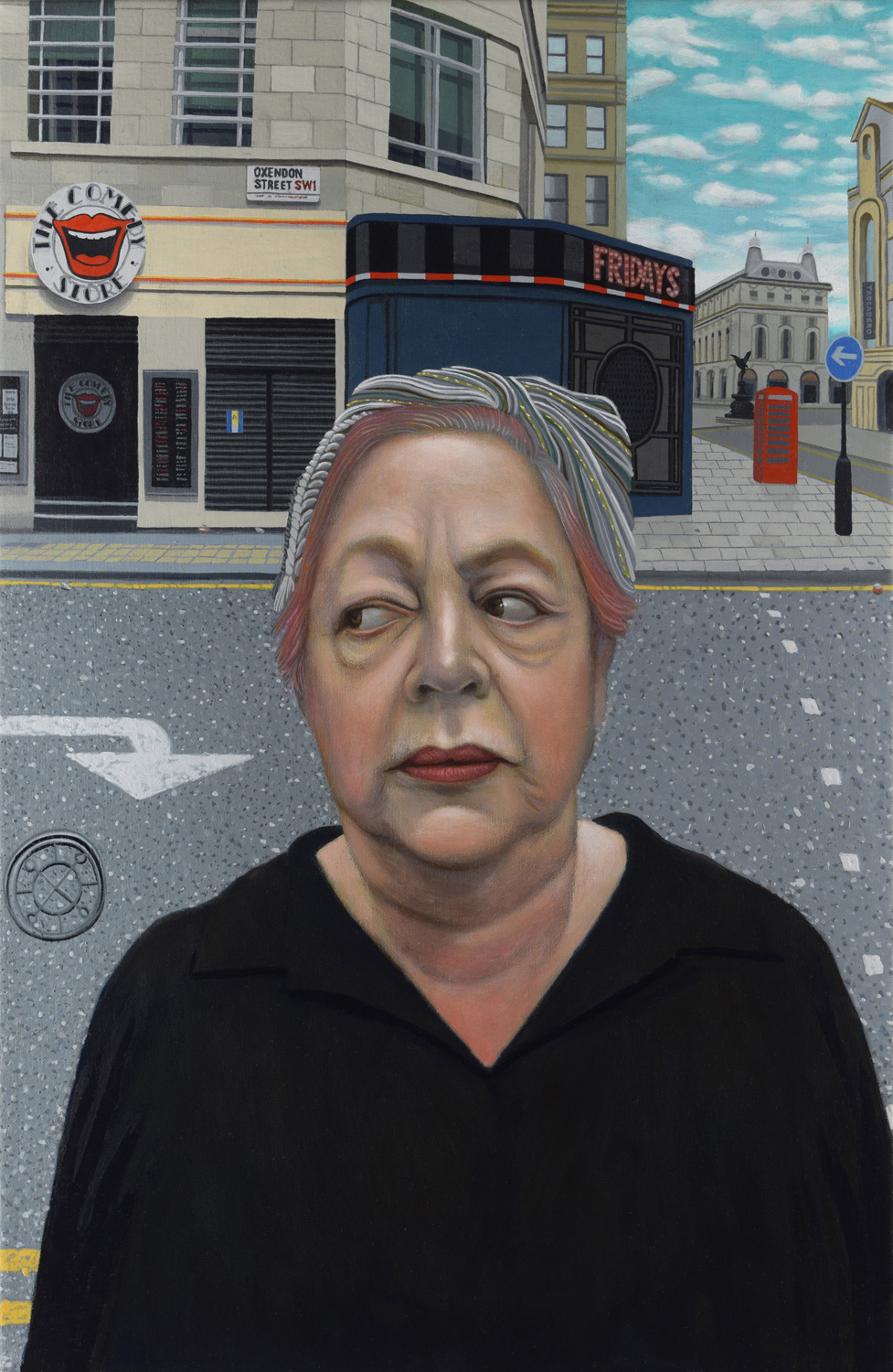 Comedienne Jo Brand and The Comedy Club
