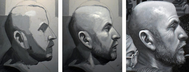 3-hour portrait sitting with illustrator Simon Davis (2000AD comic book artist).