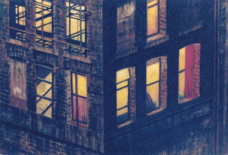 Windows at Night (Relief Study)