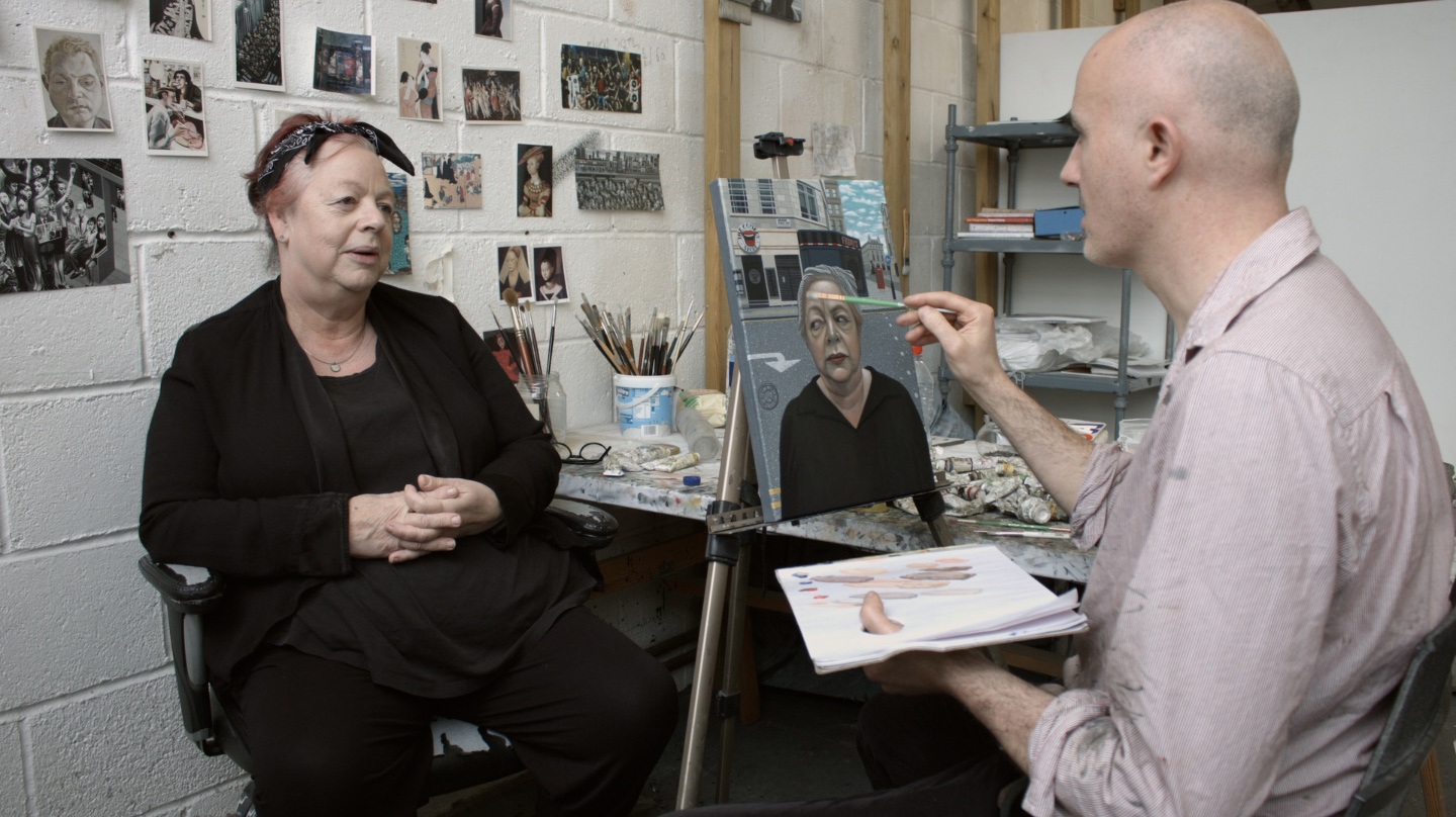 Portrait sitting with Comedienne Jo Brand