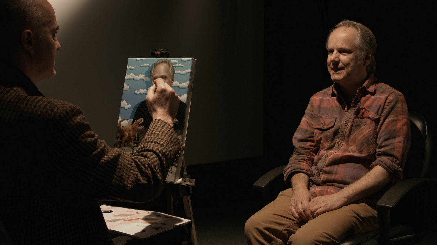 Portrait sitting with Director Nick Park