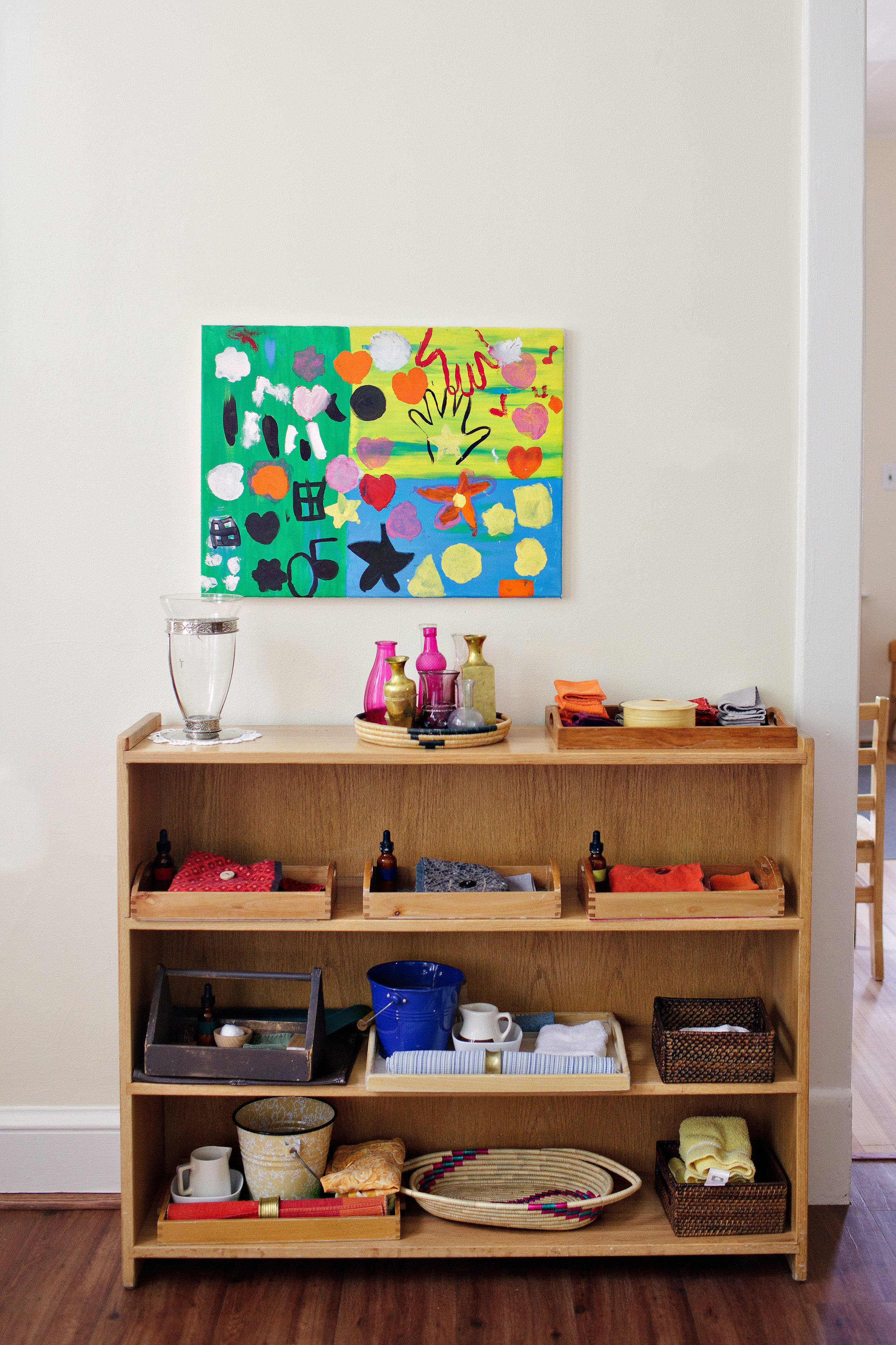 Practical Life shelves