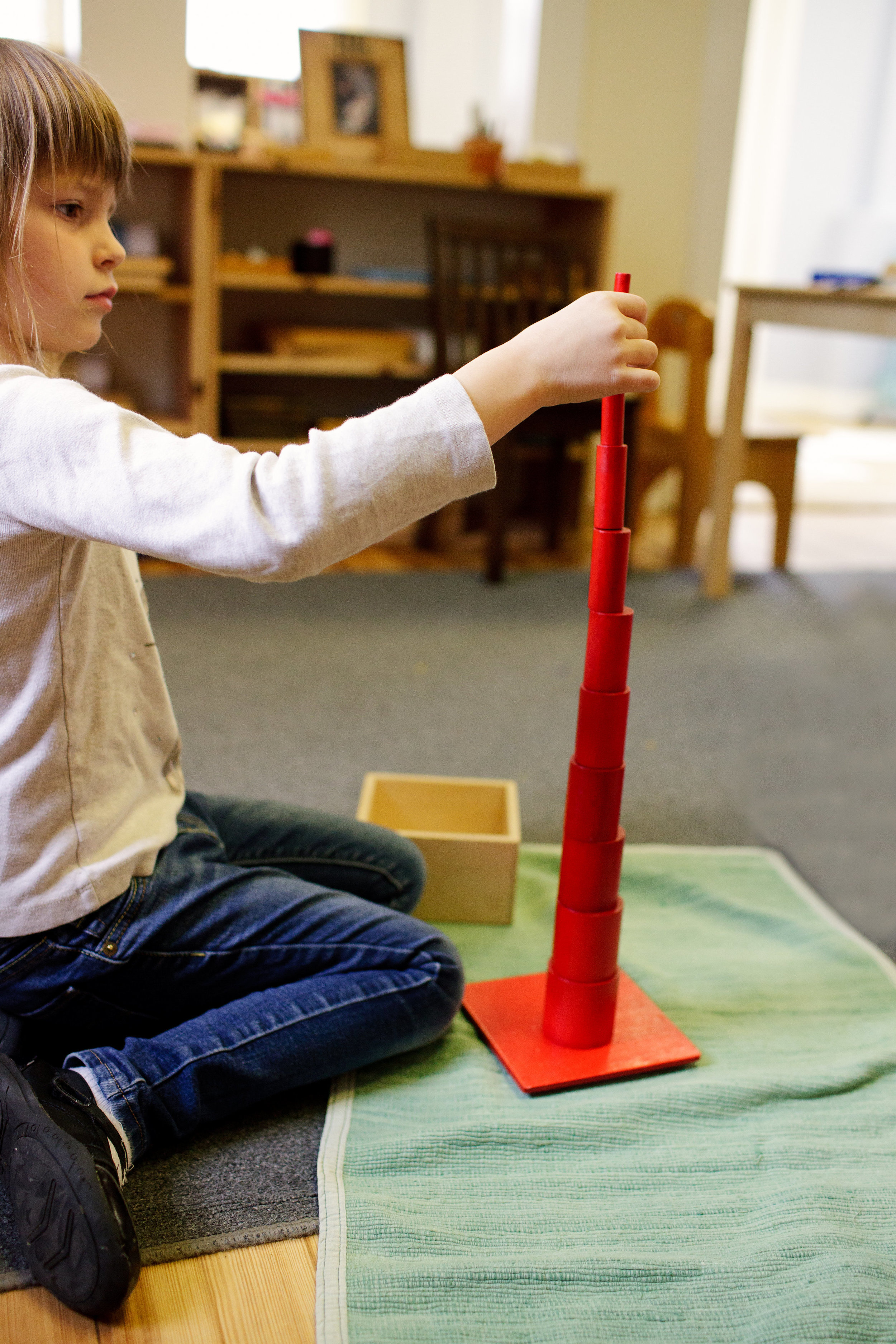 Building a tower with the Knobless Cylinders