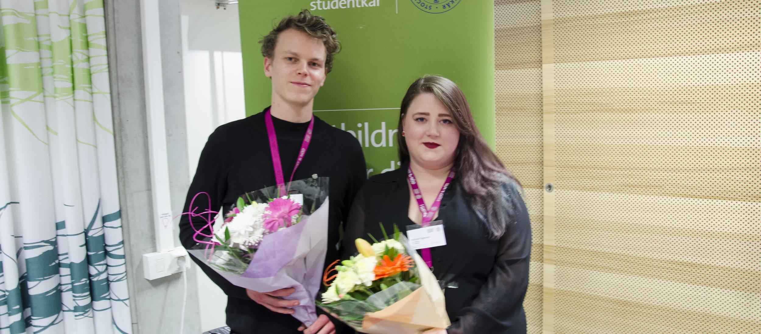 Presidiet: Henric Södergren och Stefanie Tagesson
