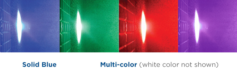 Spectrum LED pool light colors