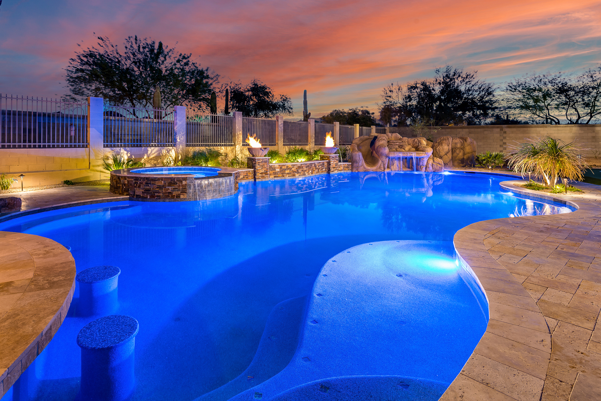 Swimming Pool with Vivid 360 Pool Replacement Lights