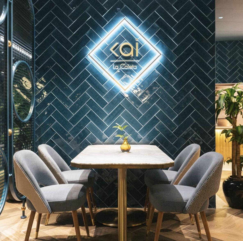 Nayra diseñó el espectacular Restaurante Kai La Caleta en Adeje