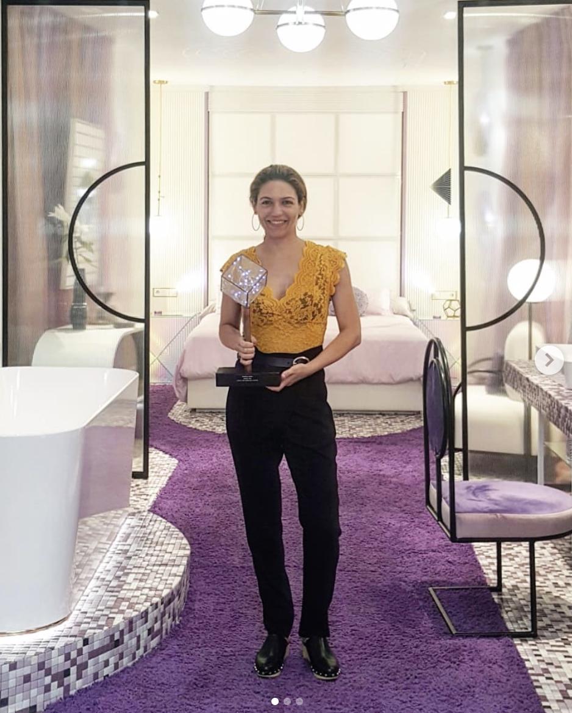 Nayra ganó, entre varios interioristas nacionales, el premio al espacio con el diseño más creativo en la Marbella Design Fair del 2019