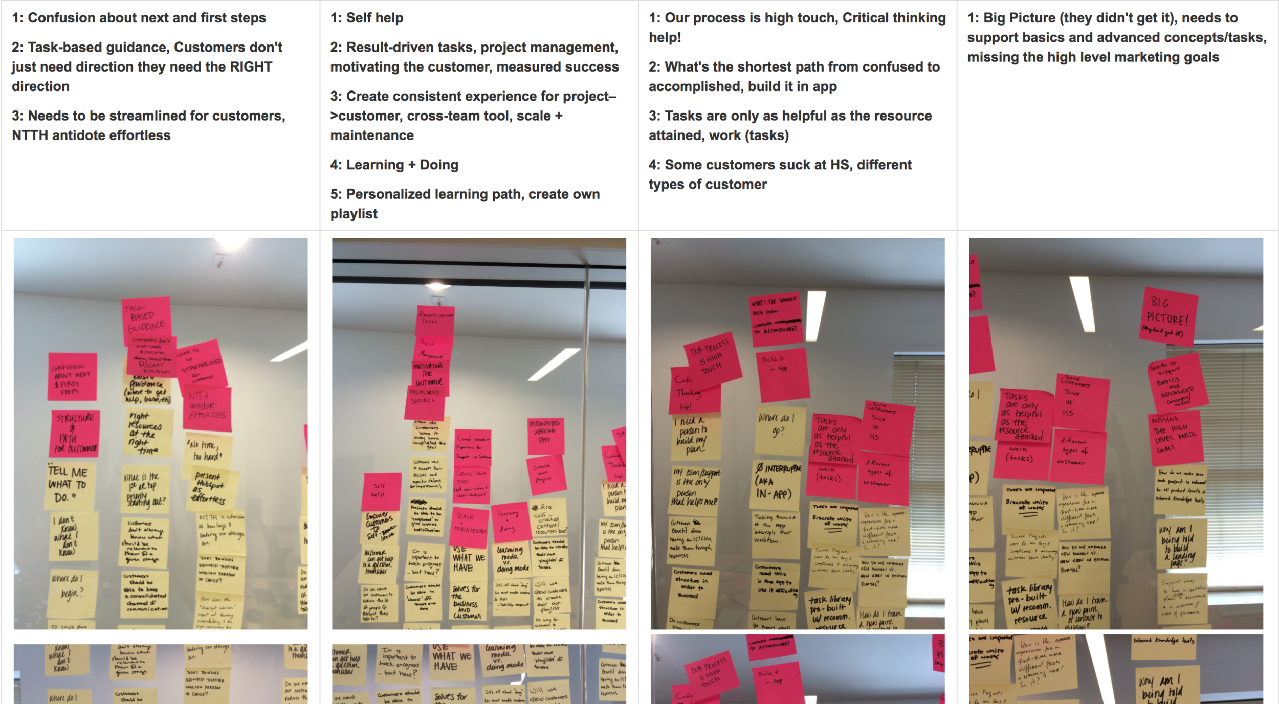 Some takeaways from our first workshop