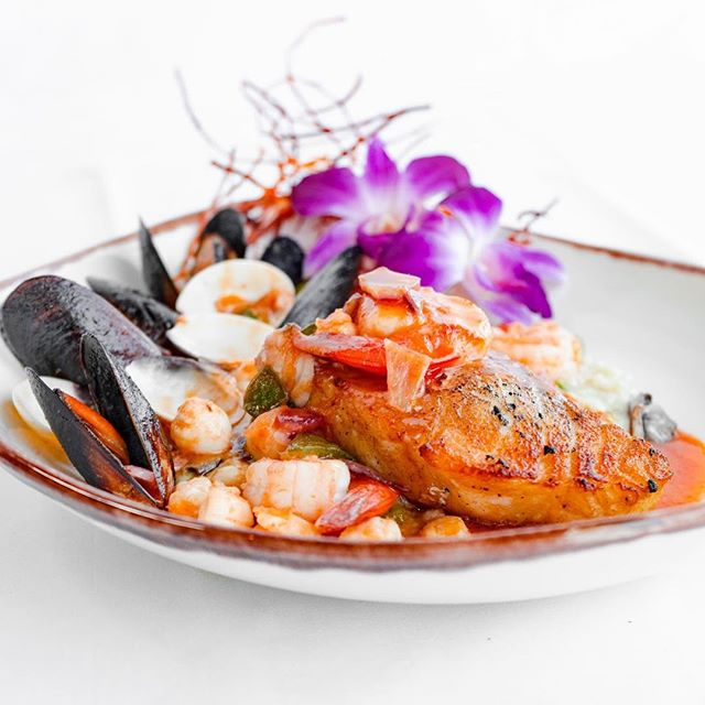 What's your favorite seafood in this dish?  Keeping it Young.Urban. Cuban.American since 1989  Cuban Specialties with a Nuevo Latino fusion.  #yucarestaurant #afternoon #miamibeach #lincolnroad #mojitos #artbasel #share #friends #cubanfood #tasty #trending #1989