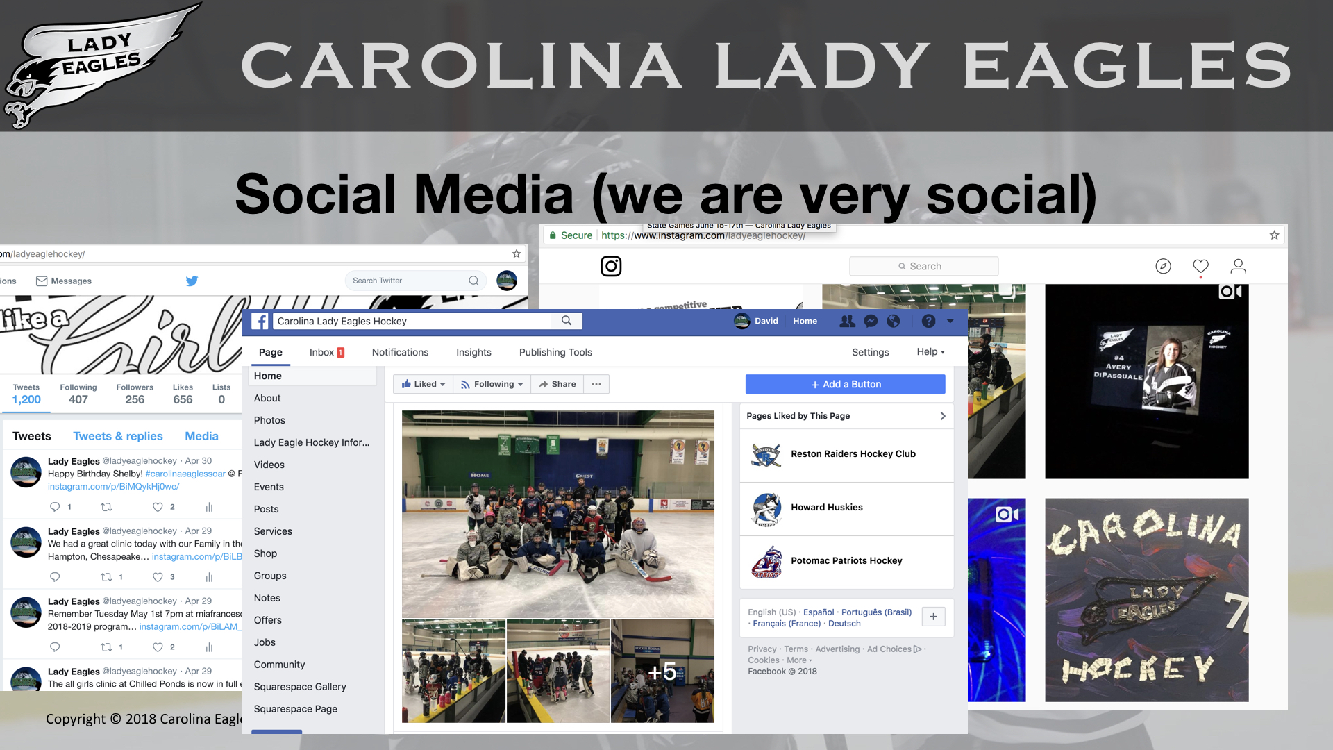 Social Media (We are very Social)