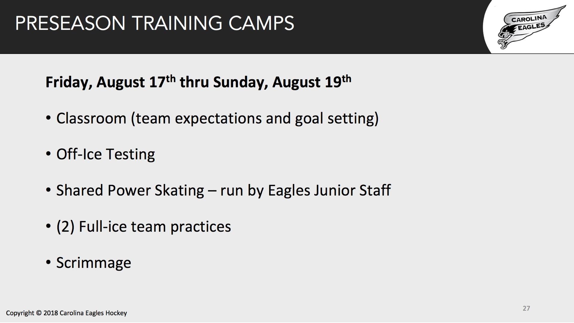 Pre-Season Camp