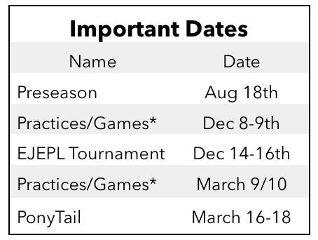 U10 Program - 10-12 Games 2 Tournaments and tons of fun!!!!!