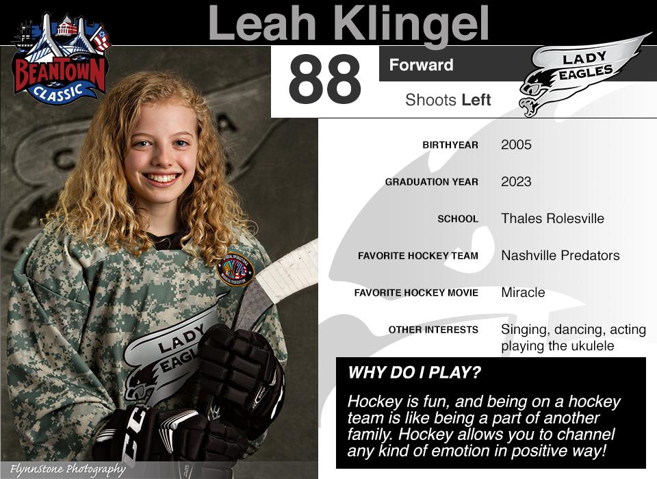 #88 Leah Klingel
