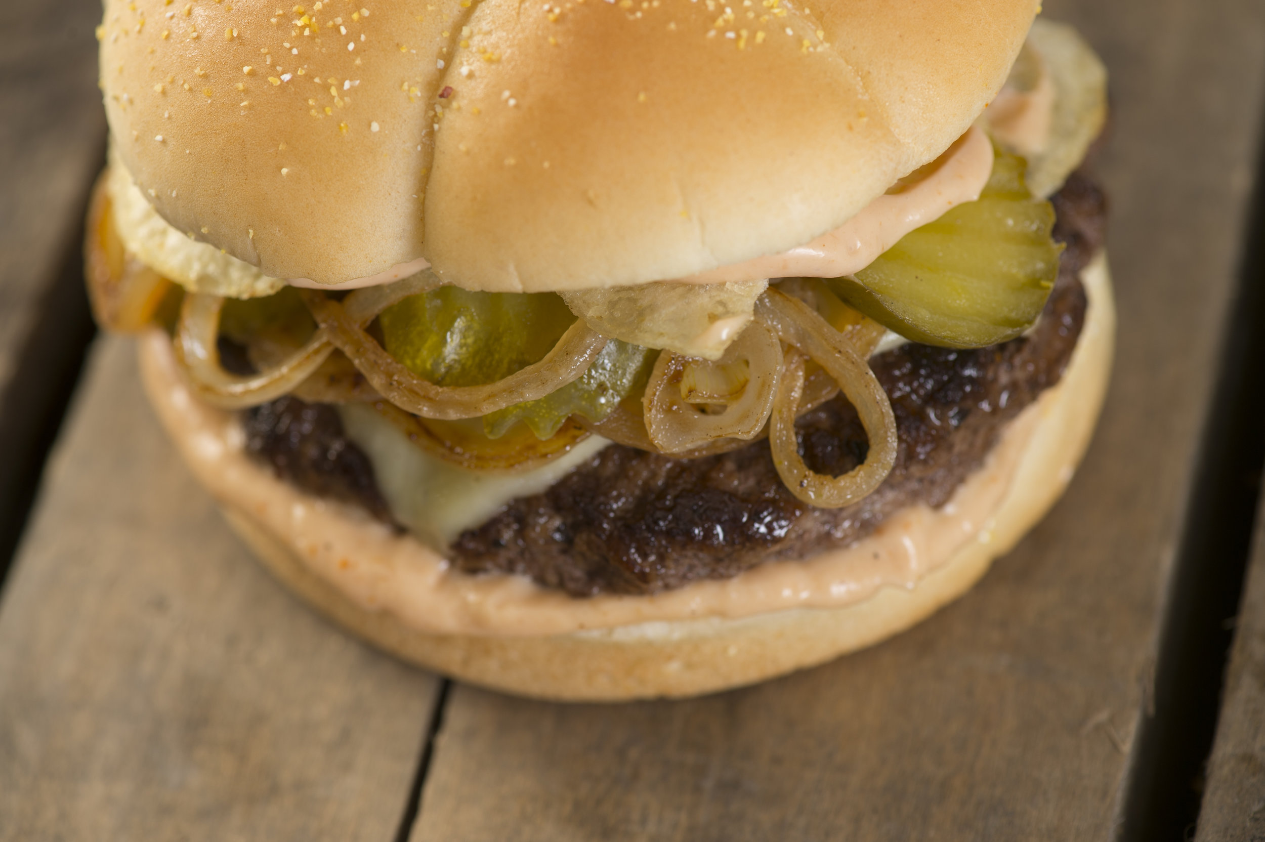 Aunt Millie's French Onion Burger