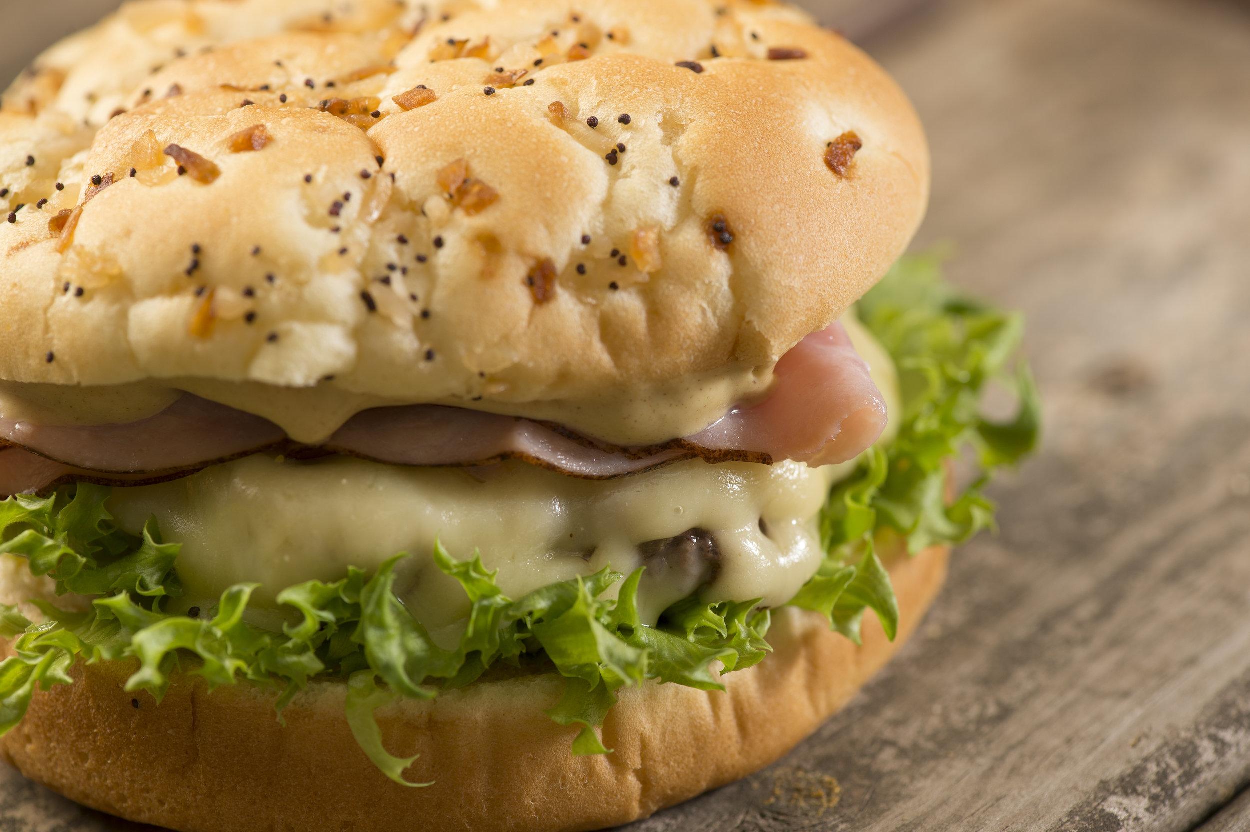 Aunt Millie's Benedict Burger