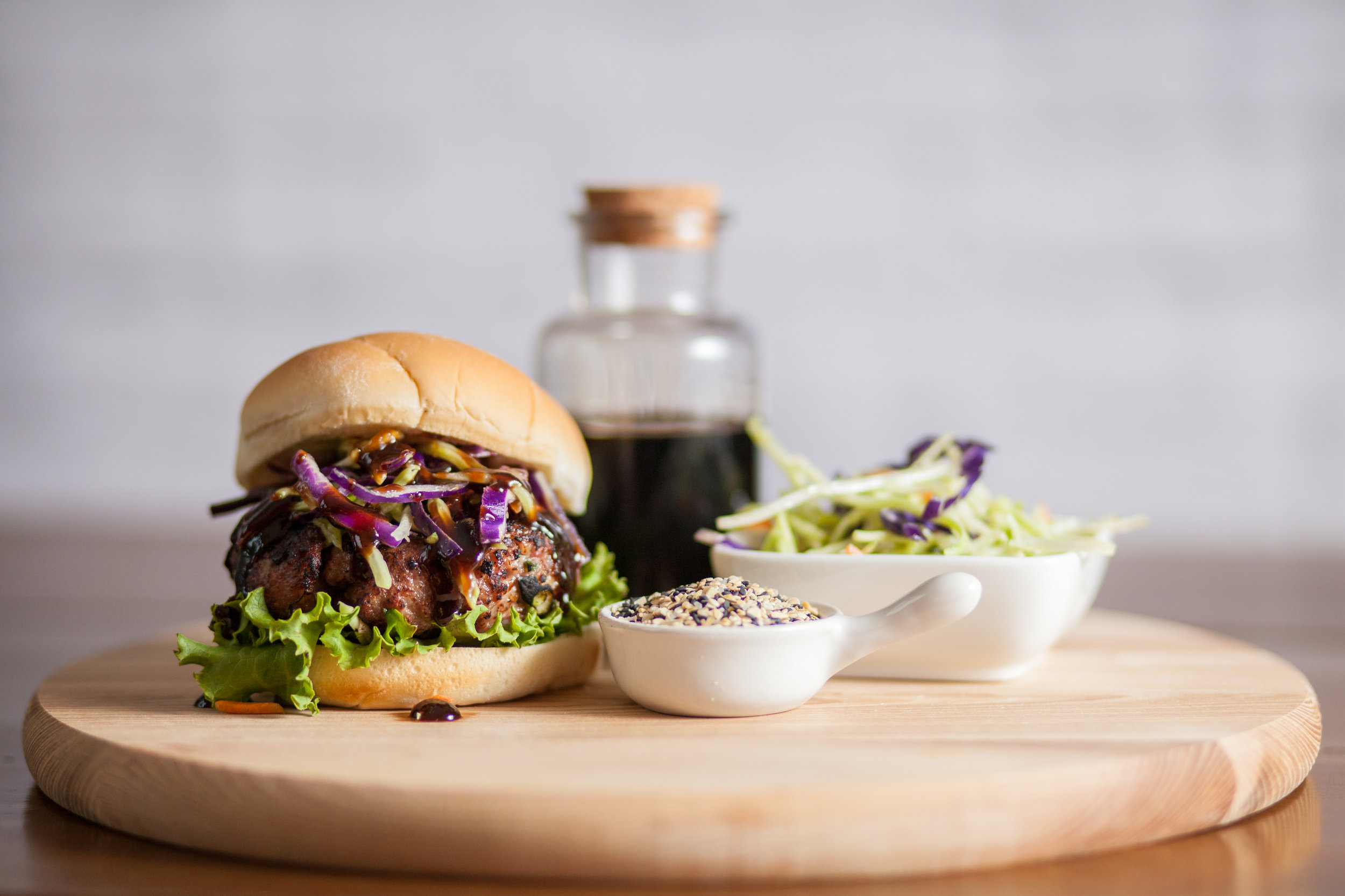 Asian-Style Pork Burger - Another great alternative to beef. The Asian-Style Pork Burger combines all of the flavor and freshness of Asian cuisines in a new way