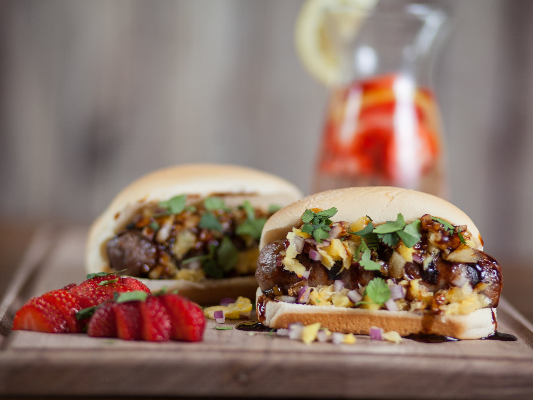 Hawaiian Brats - You need something a little tropical to end your summer on a high note! Bratwursts with crushed pineapple and teriyaki sauce on Deli Mini Sub Buns are the perfect way to say 'Aloha' to summer. They're both easy to assemble and fun to eat. So hopefully this Labor Day you're able to sit back and relax like you were in Hawaii.