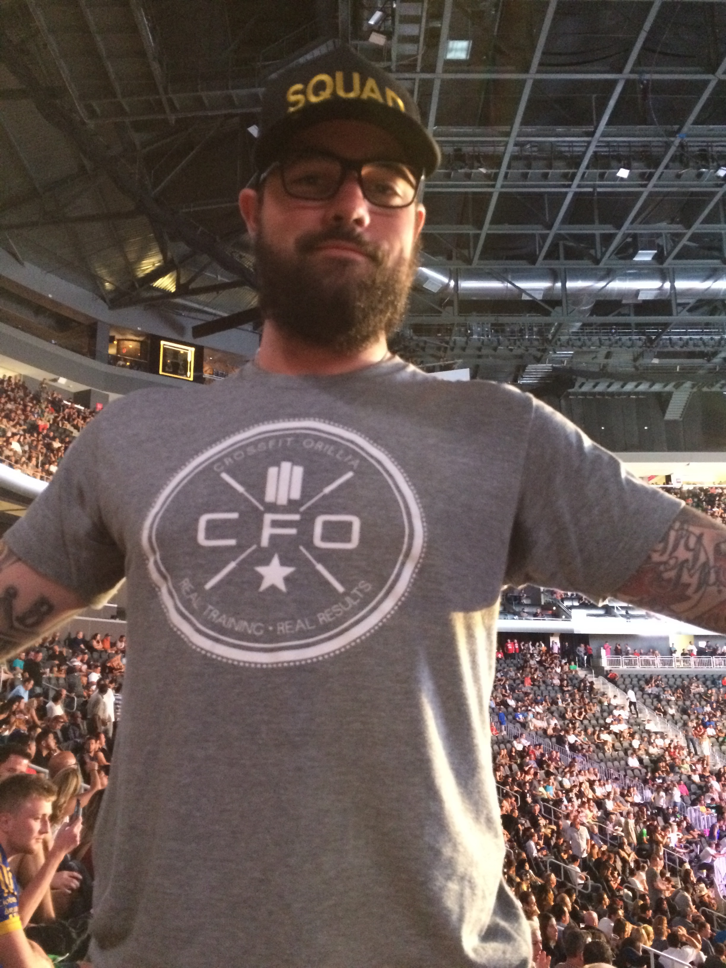 James repping CFO at the UFC fight this past weekend in Vegas!