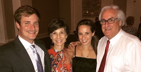 With my son Colin, daughter Sara Jane, and husband Mike.