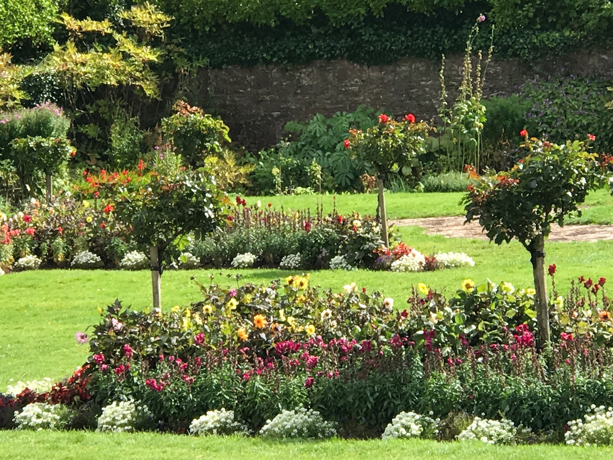 The gardens at the Muckross House