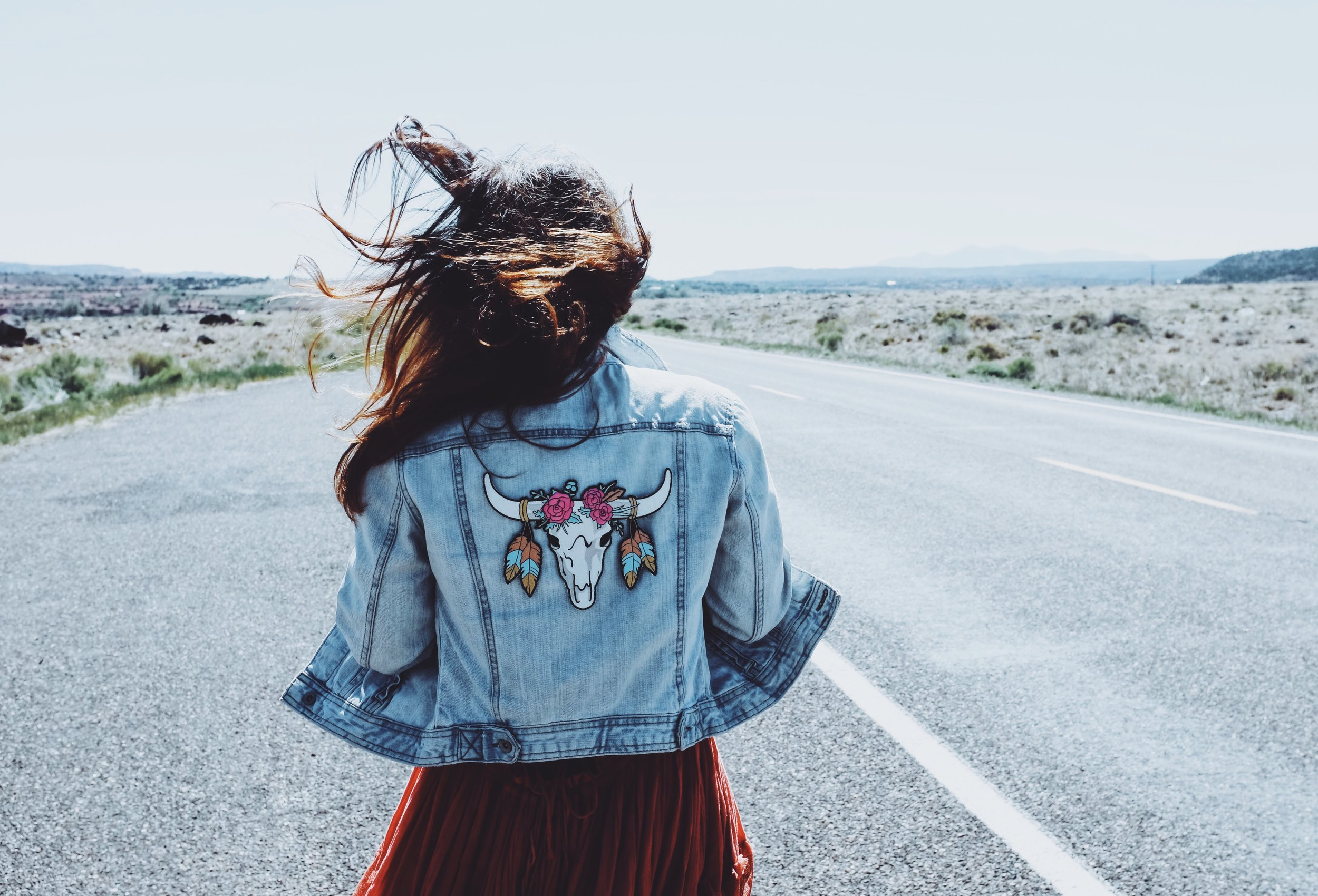 Custom made jacket that I made using a patch from  WildFlower  and dress from  FreePeople .