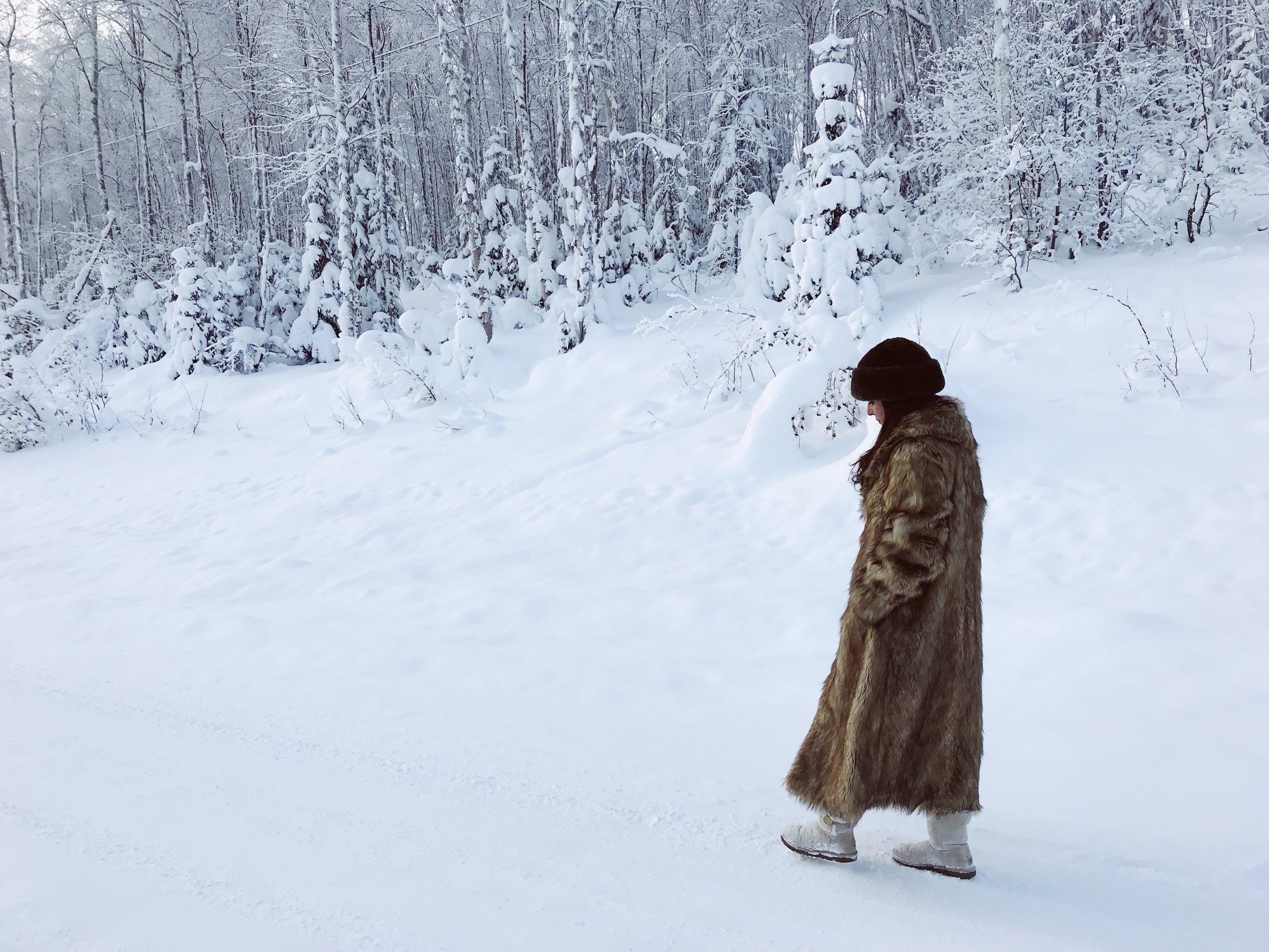 Wearing an Asos coat.