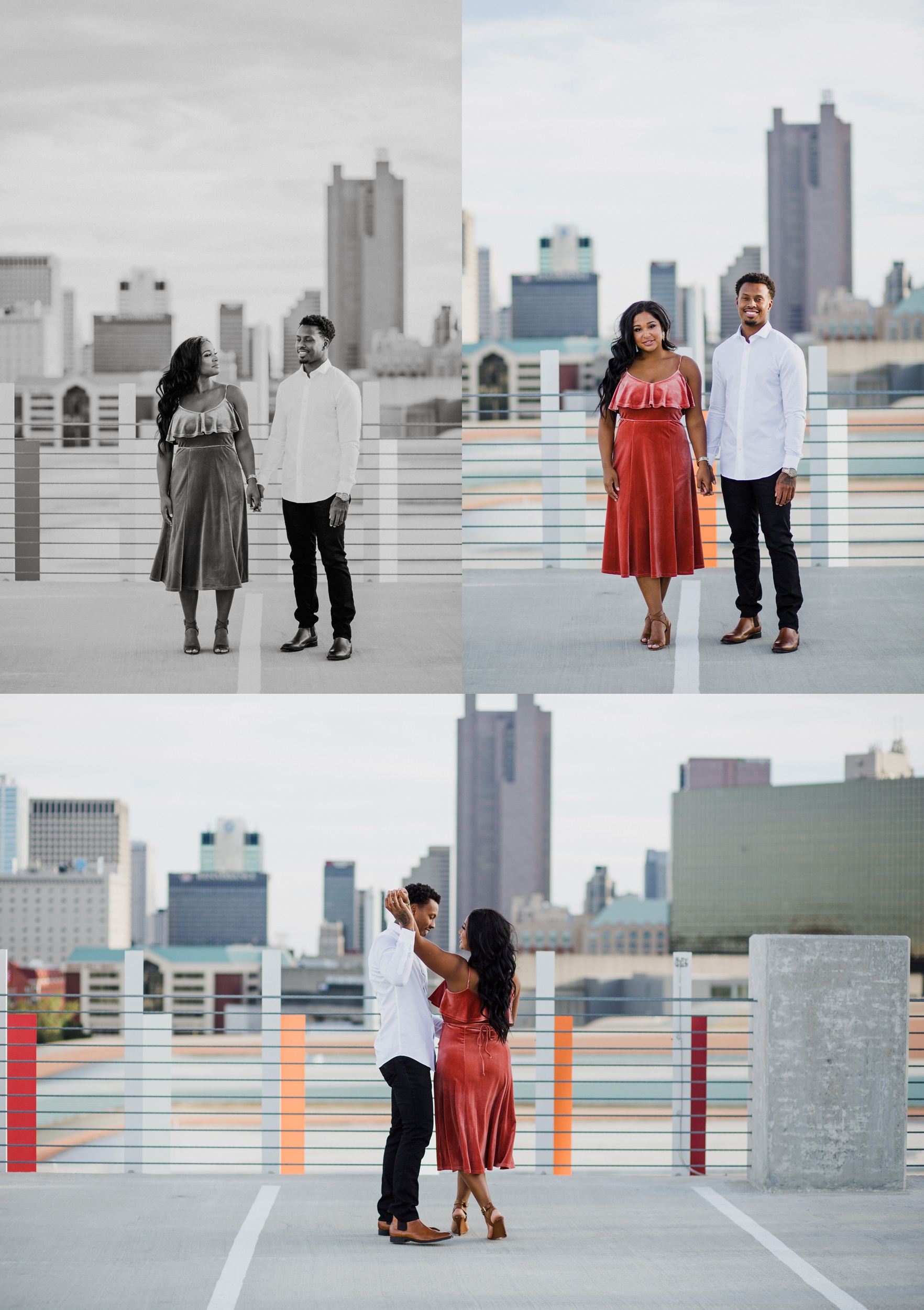 Rooftop Engagement Photographer