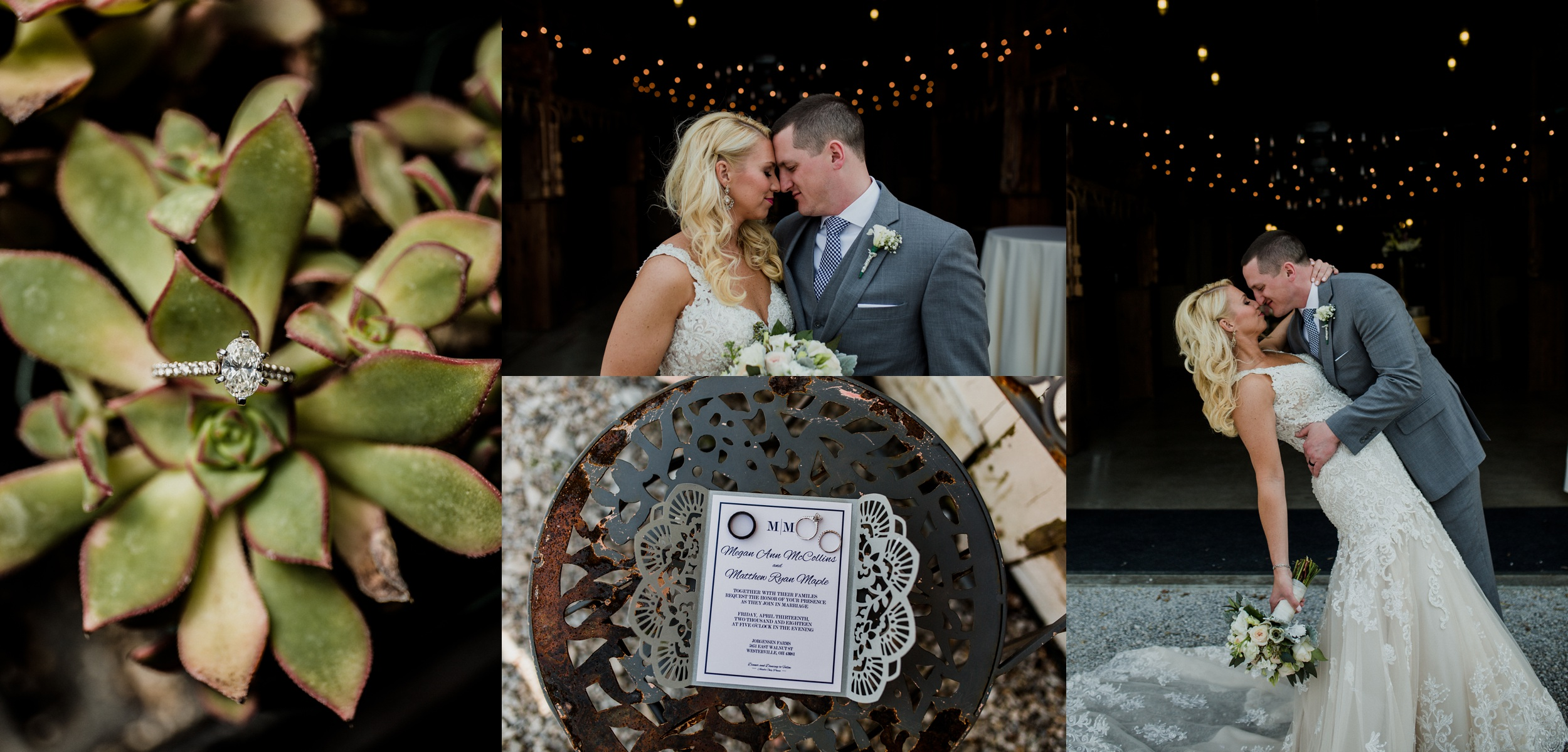 Megan + Matt - A Spring Wedding at Jorgensen Farms
