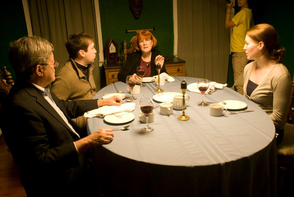 Rit Weaver, Nick Reynolds, Susan Kirby and Meagan Lee Farrell in  Dinner at Desmond's