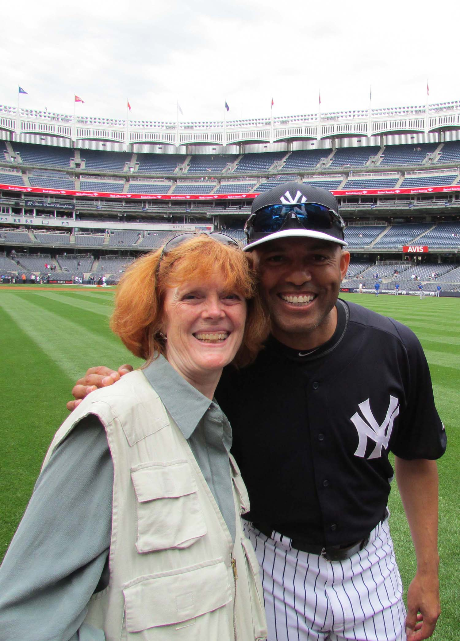 Mariano Rivera graciously let me have a photo with him. Canon Photo Day, Yankee Stadium, May 18, 2013