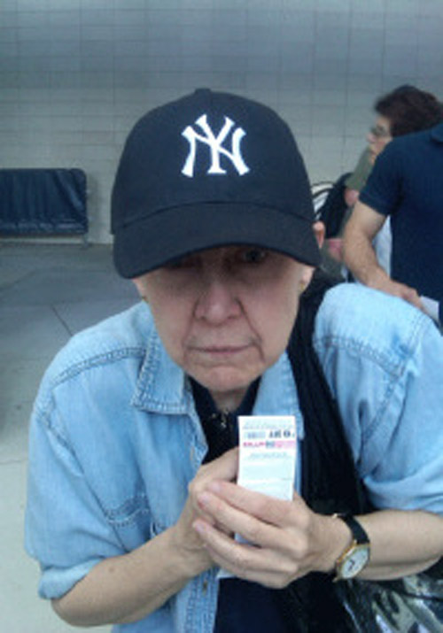 Ellen Couch at the old Yankee Stadium