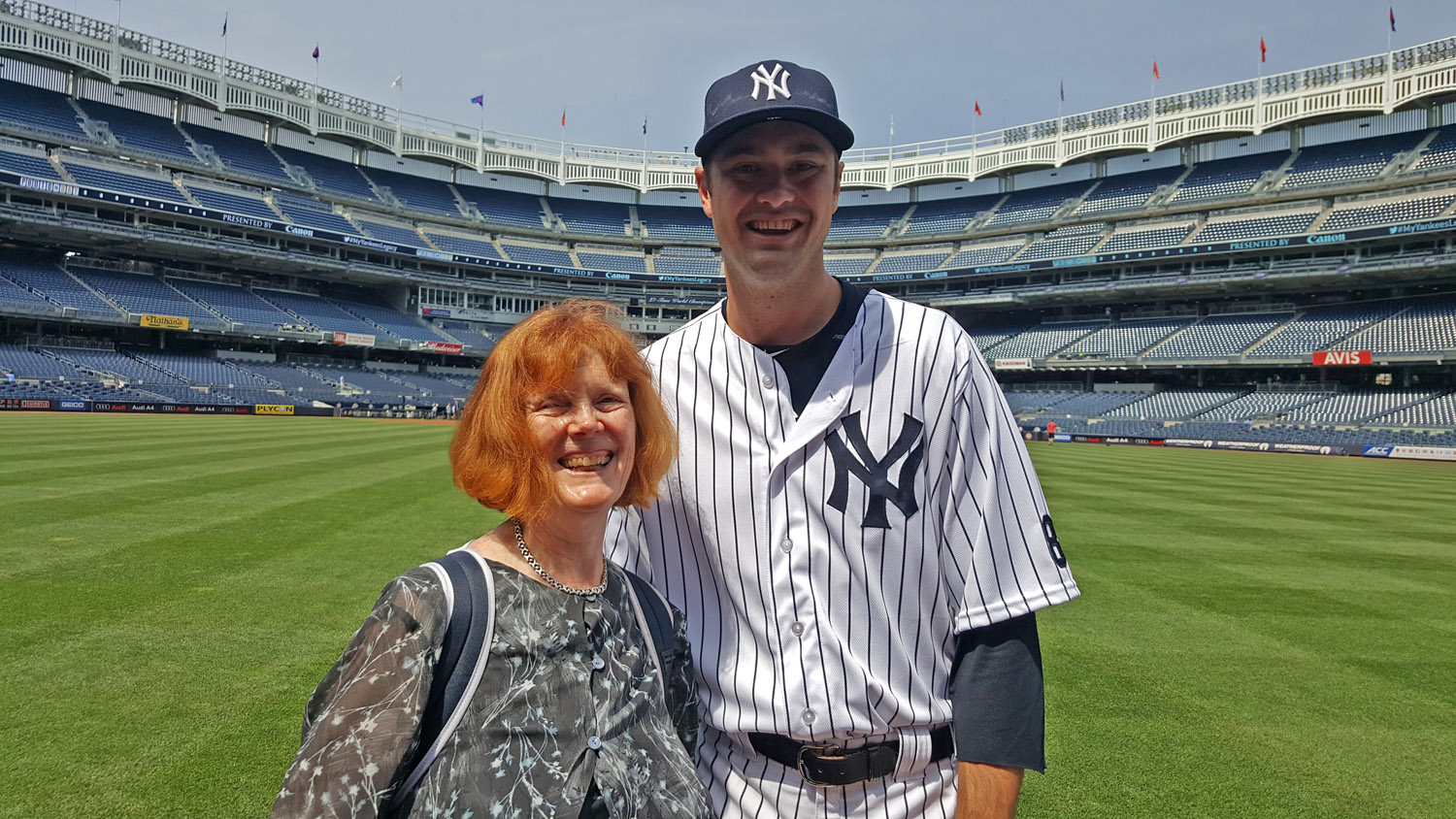 Andrew Miller on June 26, at the Canon Photo Day at Yankee Stadium .  The highlight of my year.