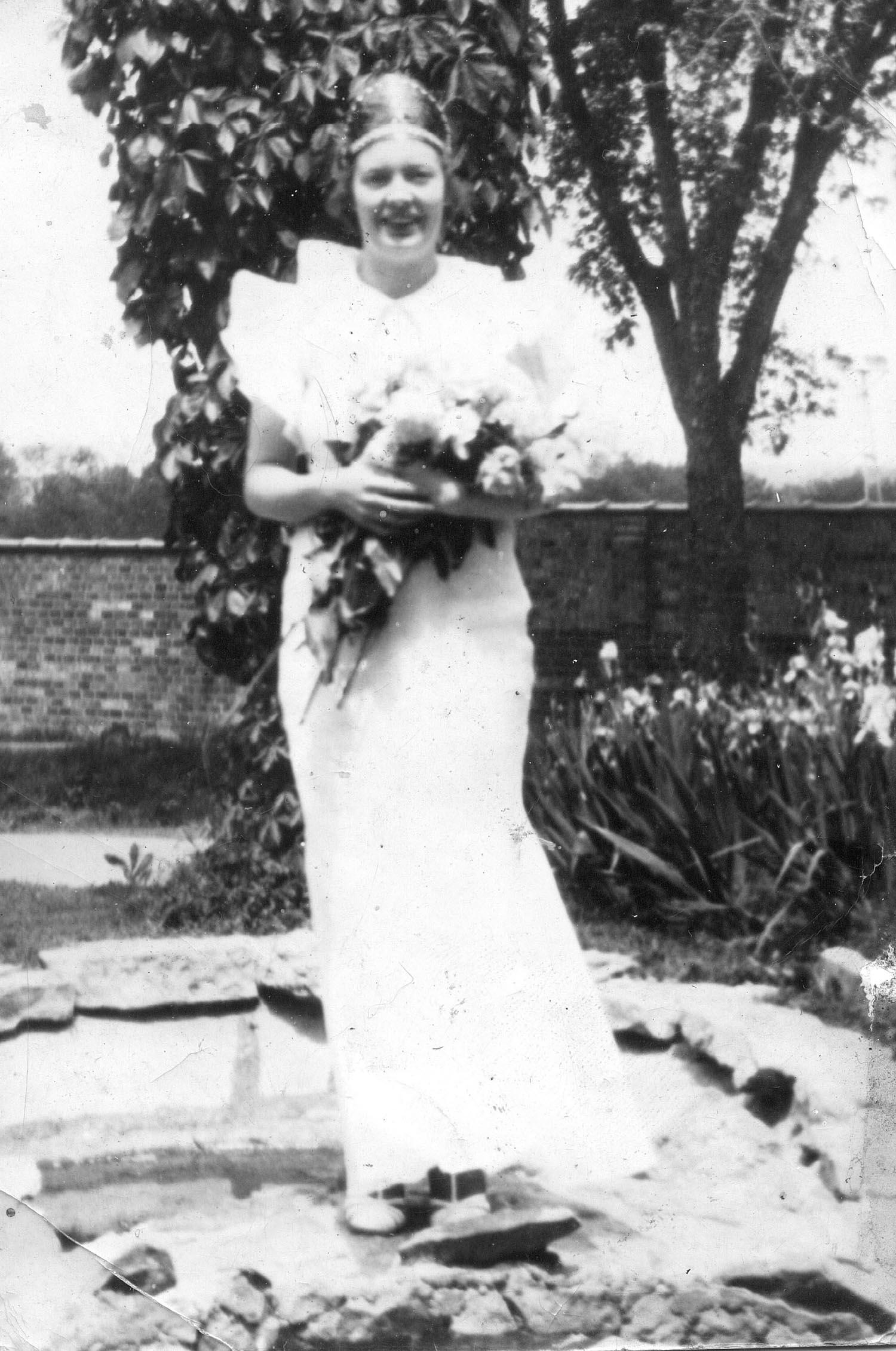 Isabel Wattles as May Queen, McKendree College, 1936