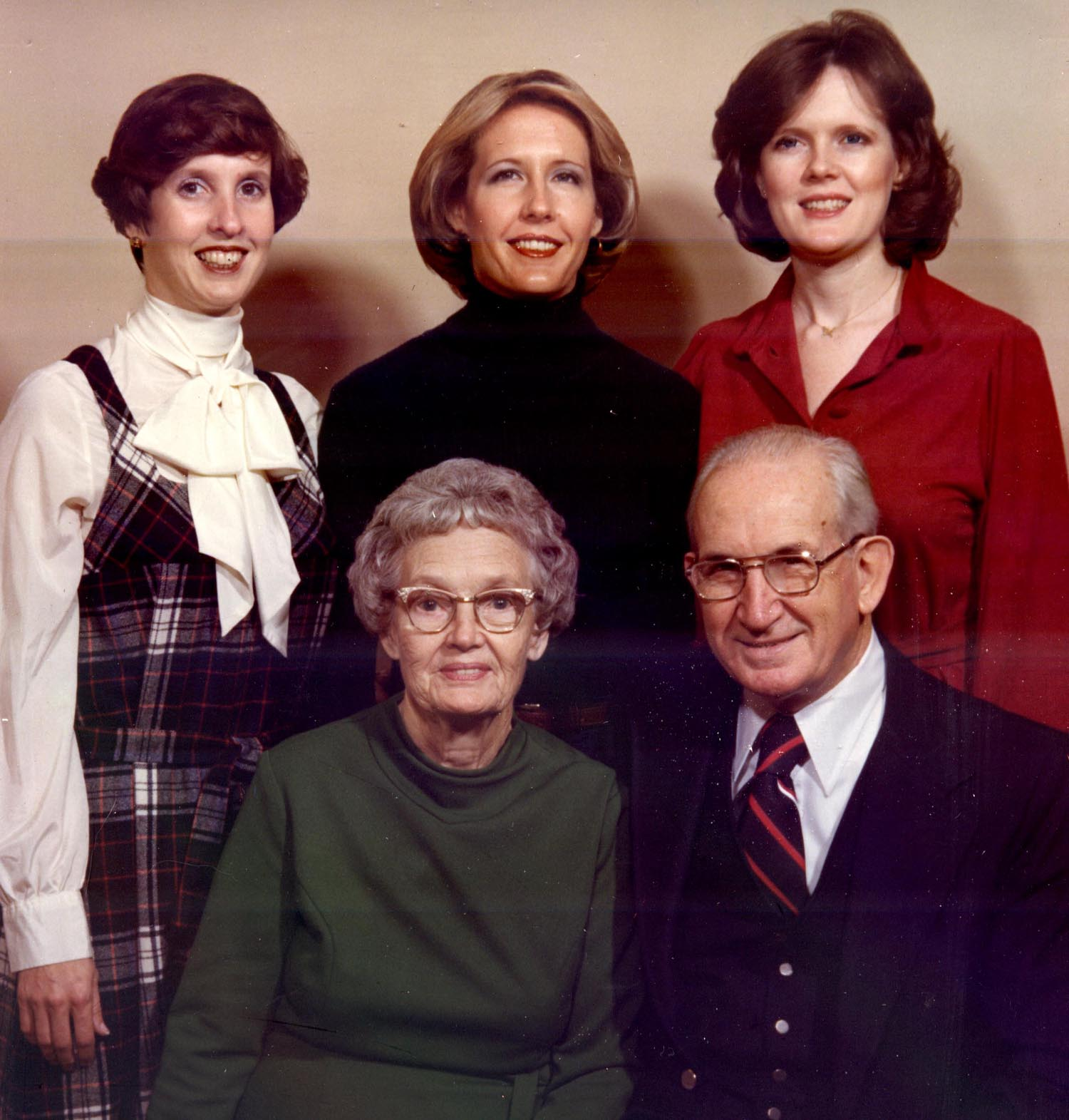 Clockwise, from upper left: Kathleen, Rebecca, Susan, William R. and Isabel Kirby, 1978