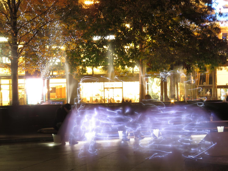Fairies dancing at Columbus Circle, Nov. 15, 2017