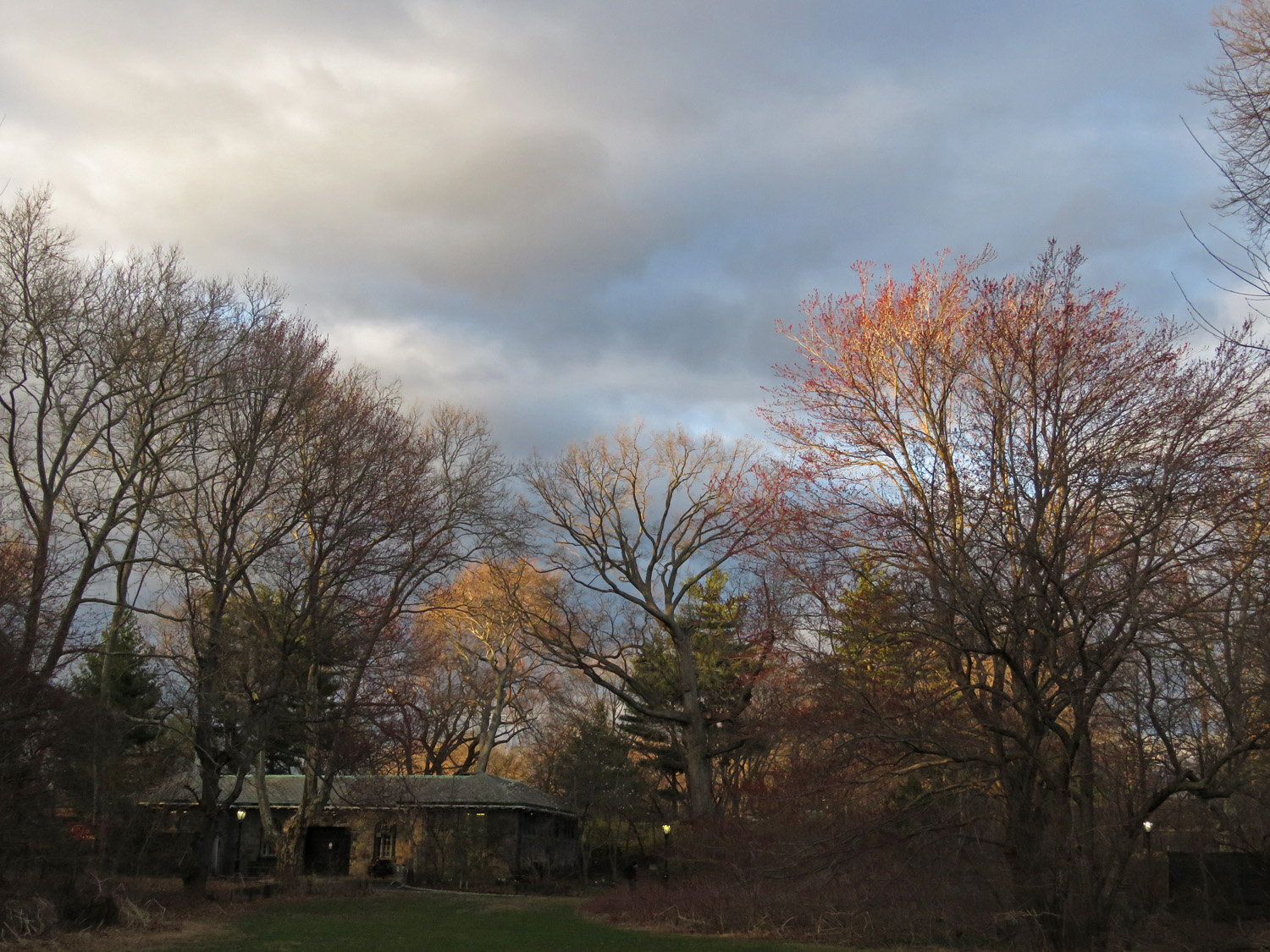 The sky over Maintenance Meadow, March 31, 2019