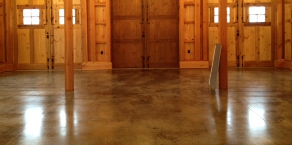 Similar look to our new concrete floor!