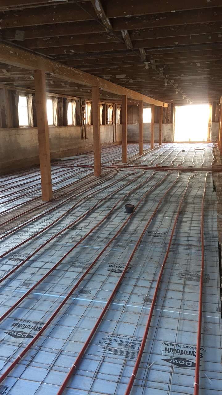 Laying the radiant heat!