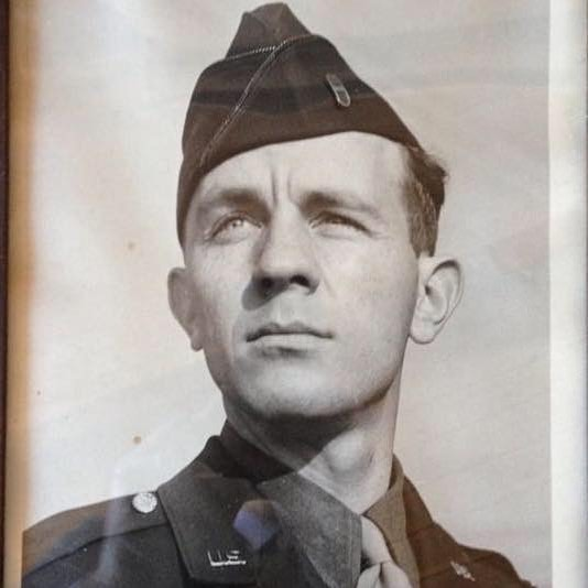 My grandfather, Vernon Slichter, circa 1944, 30th Infantry Division, 531st AntiAircraft Artillery Wing. Their division landed in Normandy eight days after D-Day and became a part of the front line. His division was one of the first into Germany and they also fought in the battle of the bulge, for which he won the Bronze Star #dday #30thinfantrydivision  #75thanniversary #normandy #battleofthebulge #neverforget #freedom