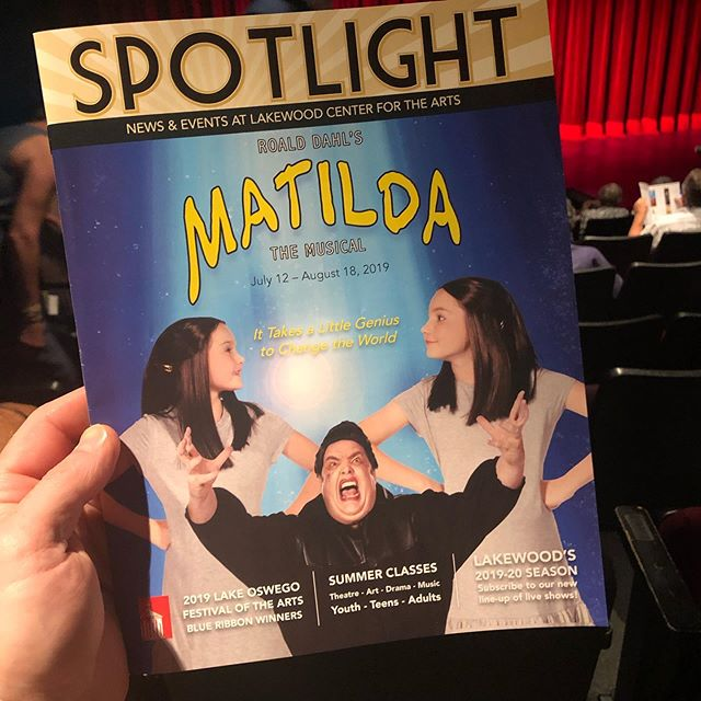 "What a fantastic opening night! Go see this show! And if you're lucky you'll get to say ""I knew her when she did her first professional show!"" because this little Matilda is fired up about being in theater! So honored to get to be one of her cheerleaders! Of course the rest of the cast is fantastic and @daniellevalentine315 will knock your socks off! 🤣😂🤣"