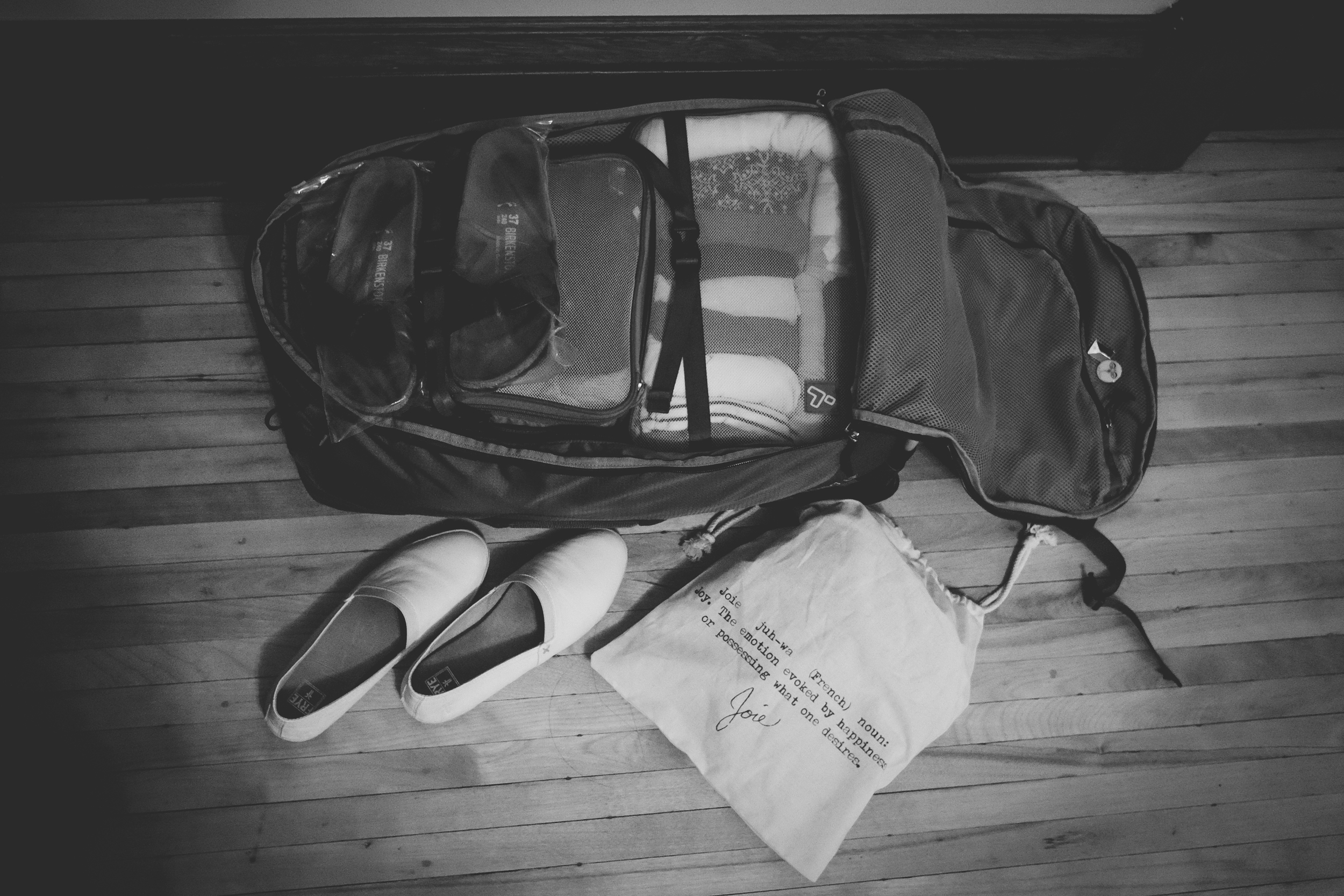 29. My new(ish) travel pack on our 106 year old floor