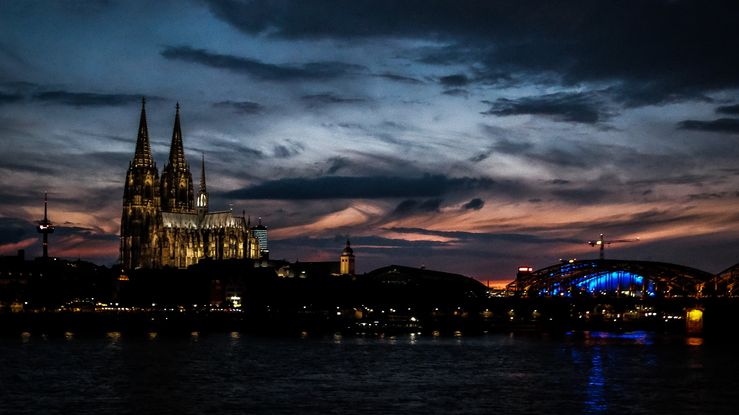 Cologne across the Mighty Rhine