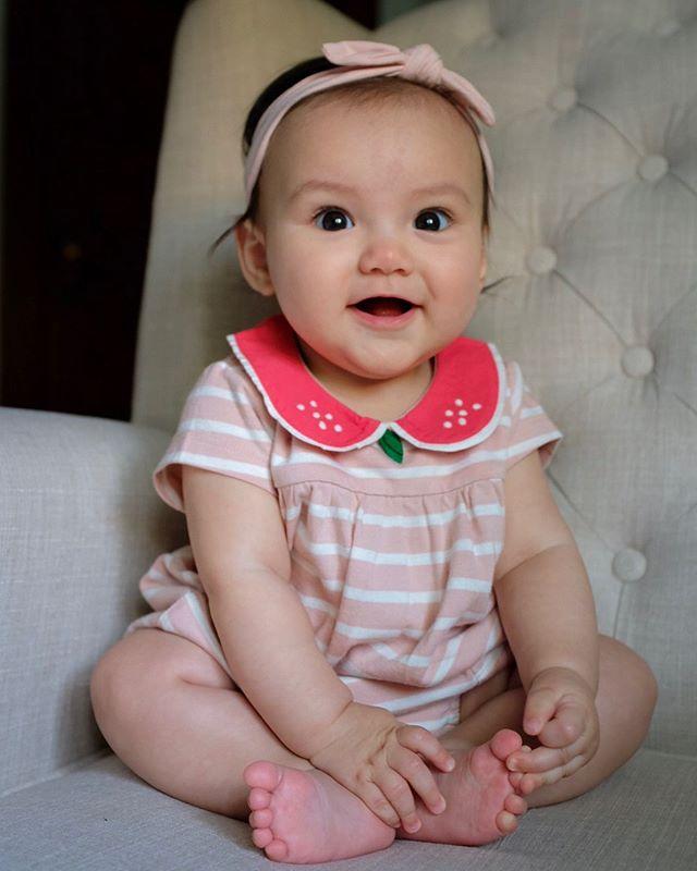 6 months old. Happy half-birthday Solenn! ❤️