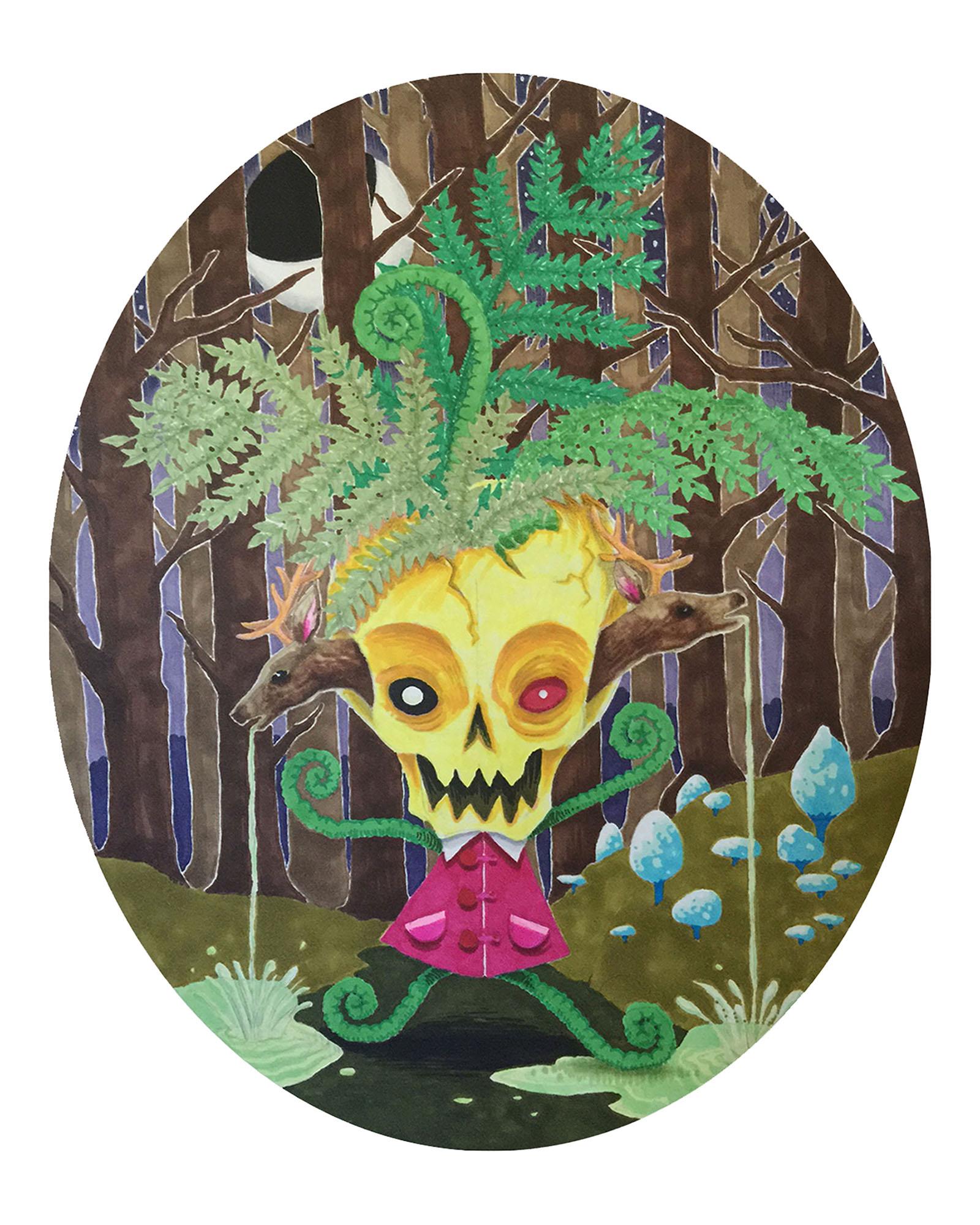 Forest Skull Girl 8x10.jpg