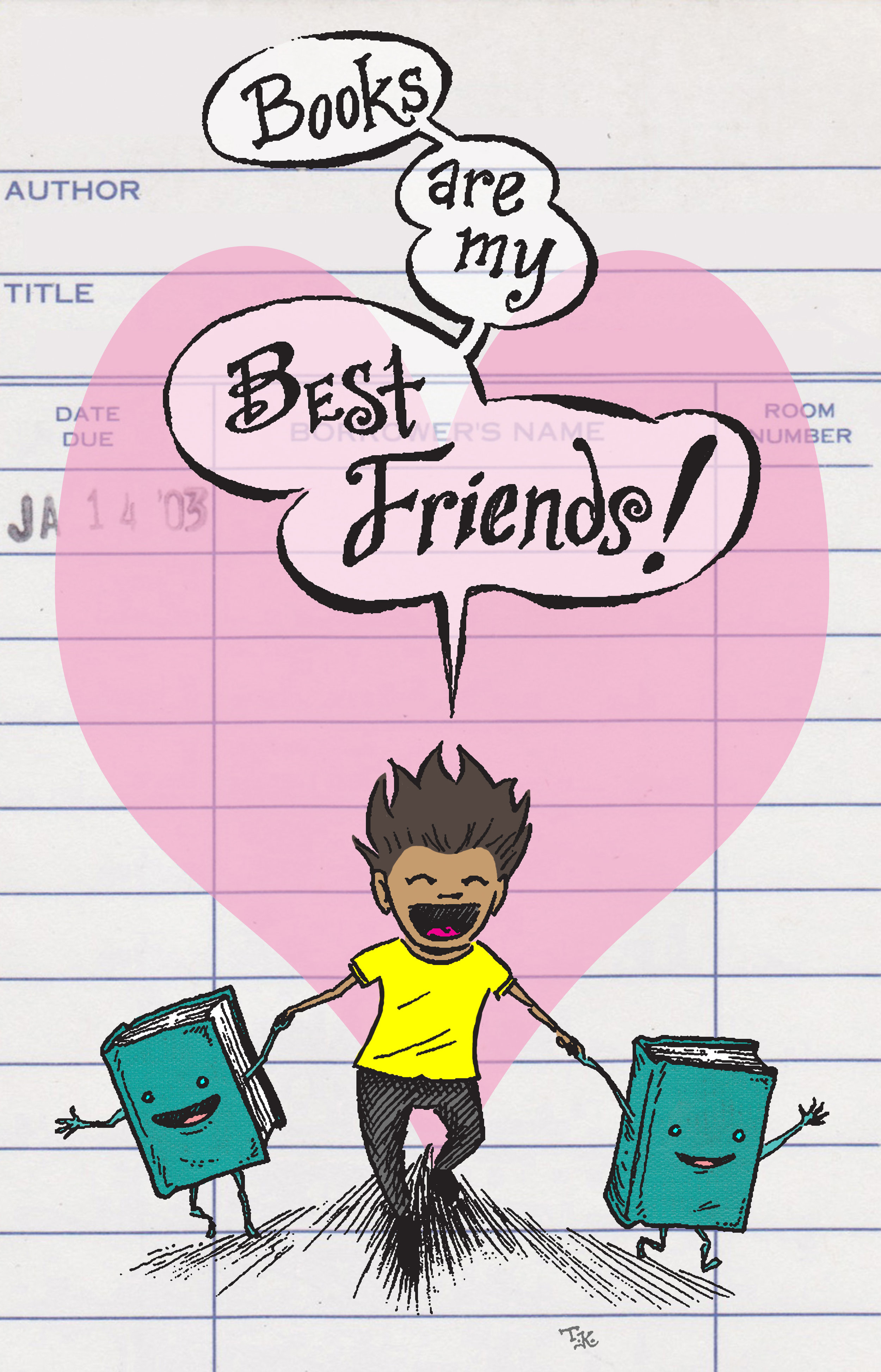 Books Are My Best Friends (pink)
