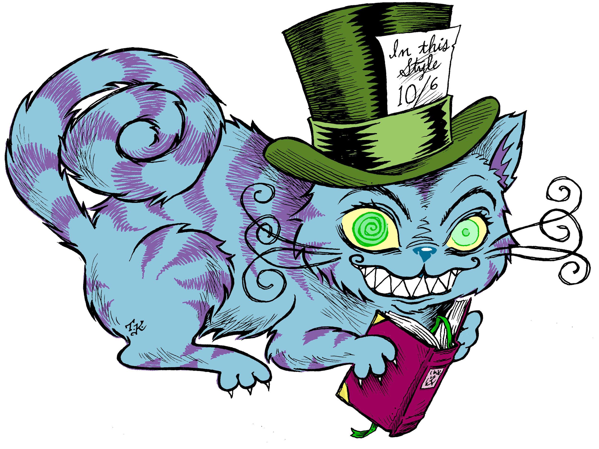 Cheshire Cat reading